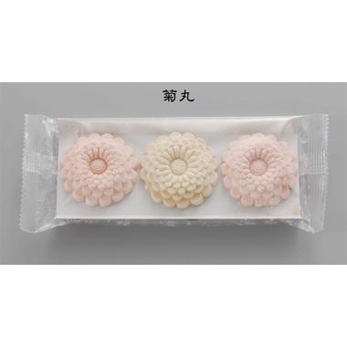 【和菓子】 赤えんどう 落雁 菊丸 白箱3個入 100箱