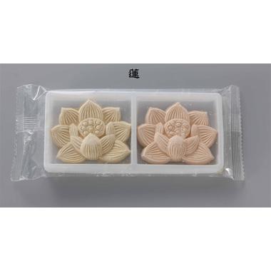 【和菓子】 赤えんどう 落雁 蓮華(大) 白箱2個入 100箱