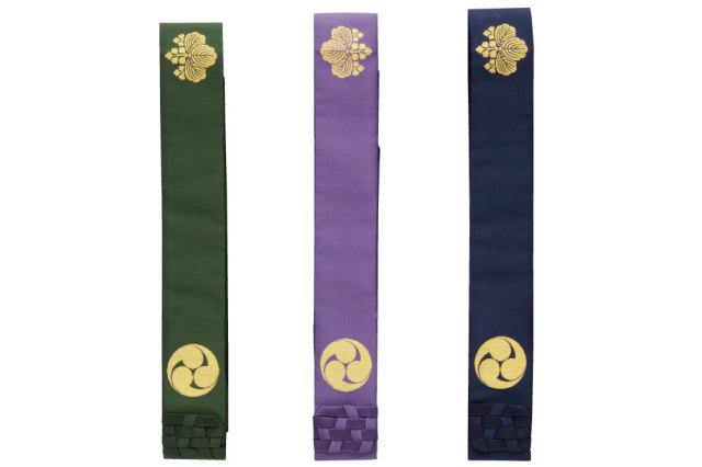 【法衣 袈裟】高野山真言宗 生絹折五条(桐巴紋)