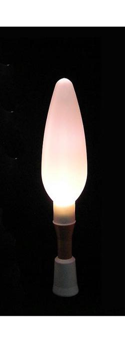 【ちょうちん用 LED 電池 ろうそく】 もえないろうそく 明るさ3倍 ハイパワーちょうちん安光A 2本セット