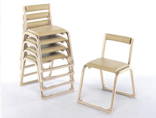 【寺院 神社 本堂用 椅子】 新本堂用椅子(香色) 背もたれ付 (座高40cm)  5脚セット