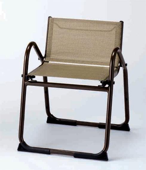【寺院 神社 本堂用 椅子】 アルミニウム製椅子 飛天 アルミチェア400 背もたれ付 5脚セット