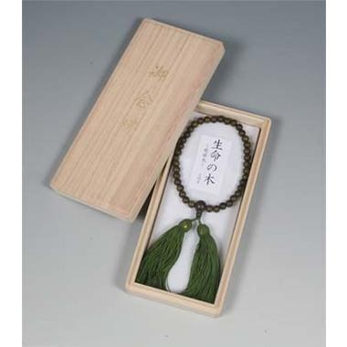 【念珠 数珠 女性用】 癒瘡木(ゆそうぼく)片手念珠 桐箱入