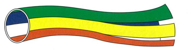 【仏具 仏旗】 五色吹き流し (ハトメ付)