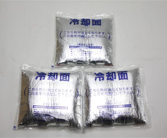 アイスパック 3個セット(冷却インナーベスト/アイスV用)【冷却ベスト用 猛暑用】