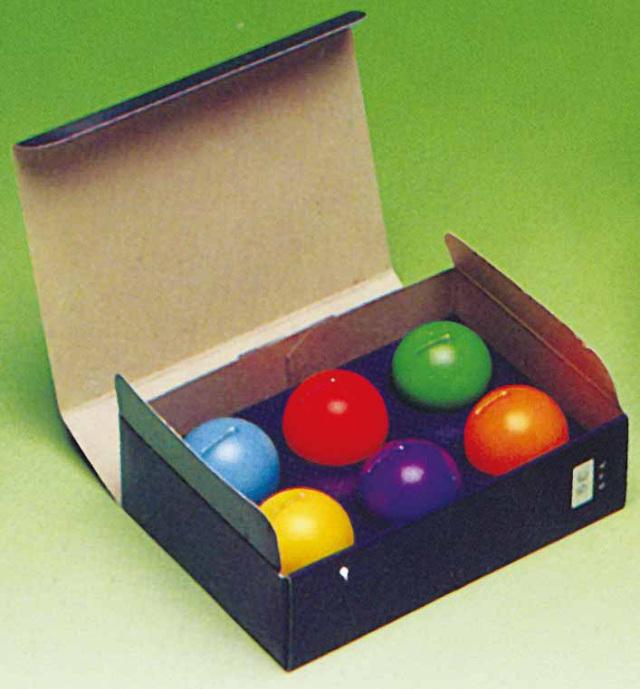 【水に浮かぶ安全ろうそく】 月光 紙箱入 6個入り30箱セット