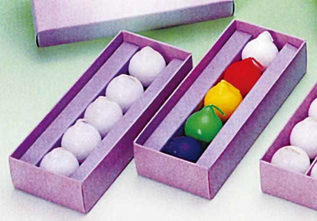 【水に浮かぶ安全ろうそく】 ミニ月光 紙箱入 5個入り50箱セット
