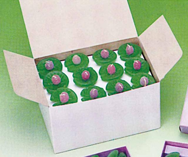 【水に浮かぶ安全ろうそく】 水蓮華 お徳用 紙箱入 60個入り1箱