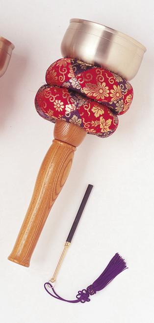 【仏具】携帯に便利 印金 リン棒収納型/欅(ケヤキ)柄