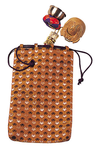 【仏具】携帯に便利 印金木魚セット用金襴袋