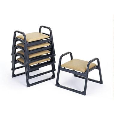 【寺院 神社 本堂用 椅子】 新本堂用椅子 背もたれなし/アーム付 (座高30cm) 5脚セット