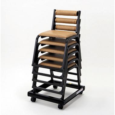 【寺院 神社 本堂用 椅子】 本堂用椅子 専用台車:5脚用