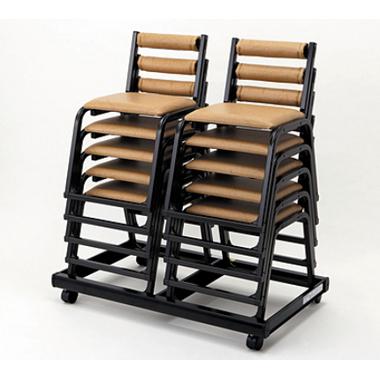 【寺院 神社 本堂用 椅子】 本堂用椅子 専用台車:10脚用