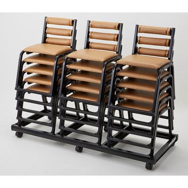 【寺院 神社 本堂用 椅子】 専用台車:15脚用