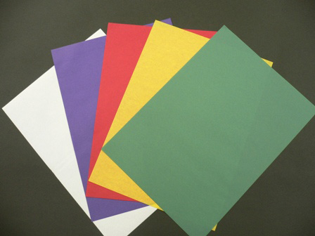 【仏具】 染め半紙 1000枚セット(5色各200枚)