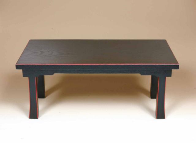 【二月堂机】 折畳式 二月堂机 棚板なし 黒面朱