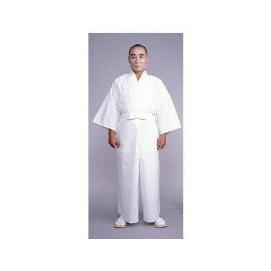 二部式・形状安定綿混薄地白衣 下衣(後部ゴム式)(夏用)【寺院用白衣 男性用】