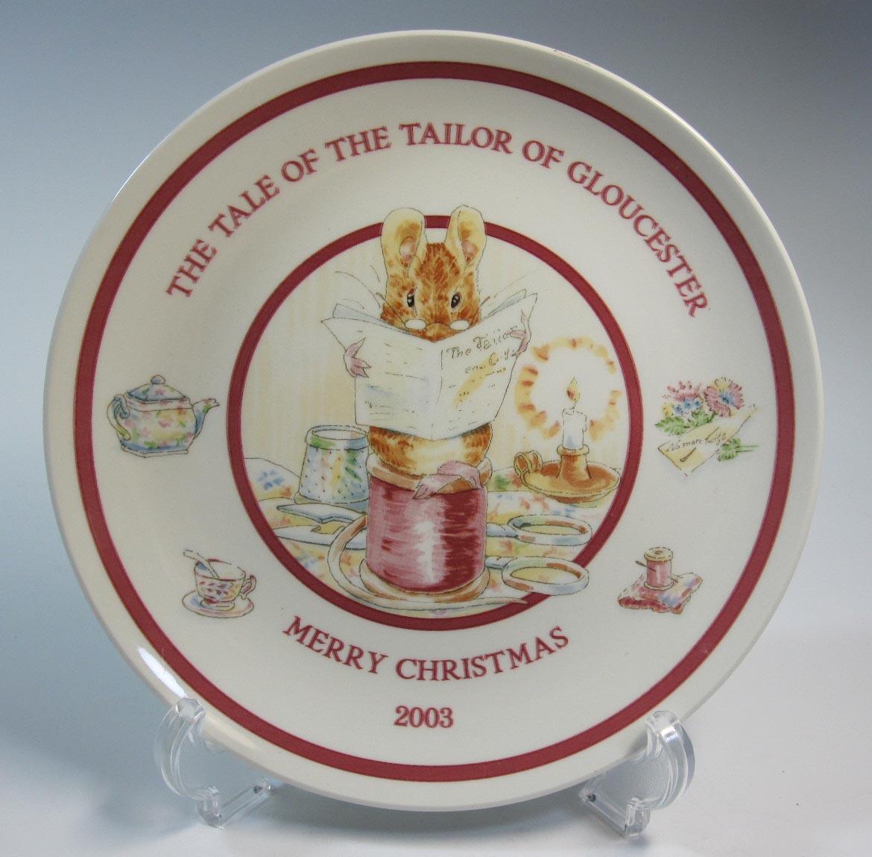 ウェッジウッド  ピーターラビット 2003年クリスマスプレート 中国製【ウェッジウッド廃盤品/個数限定】