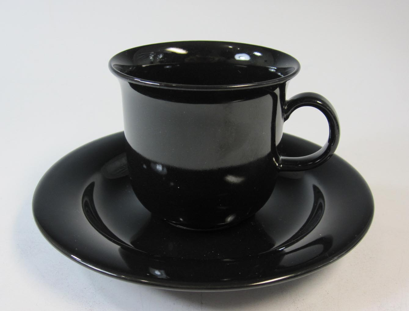 アラビア ARABIA ブラックアーキティカ コーヒーカップ&ソーサー【アラビア廃盤品/個数限定】