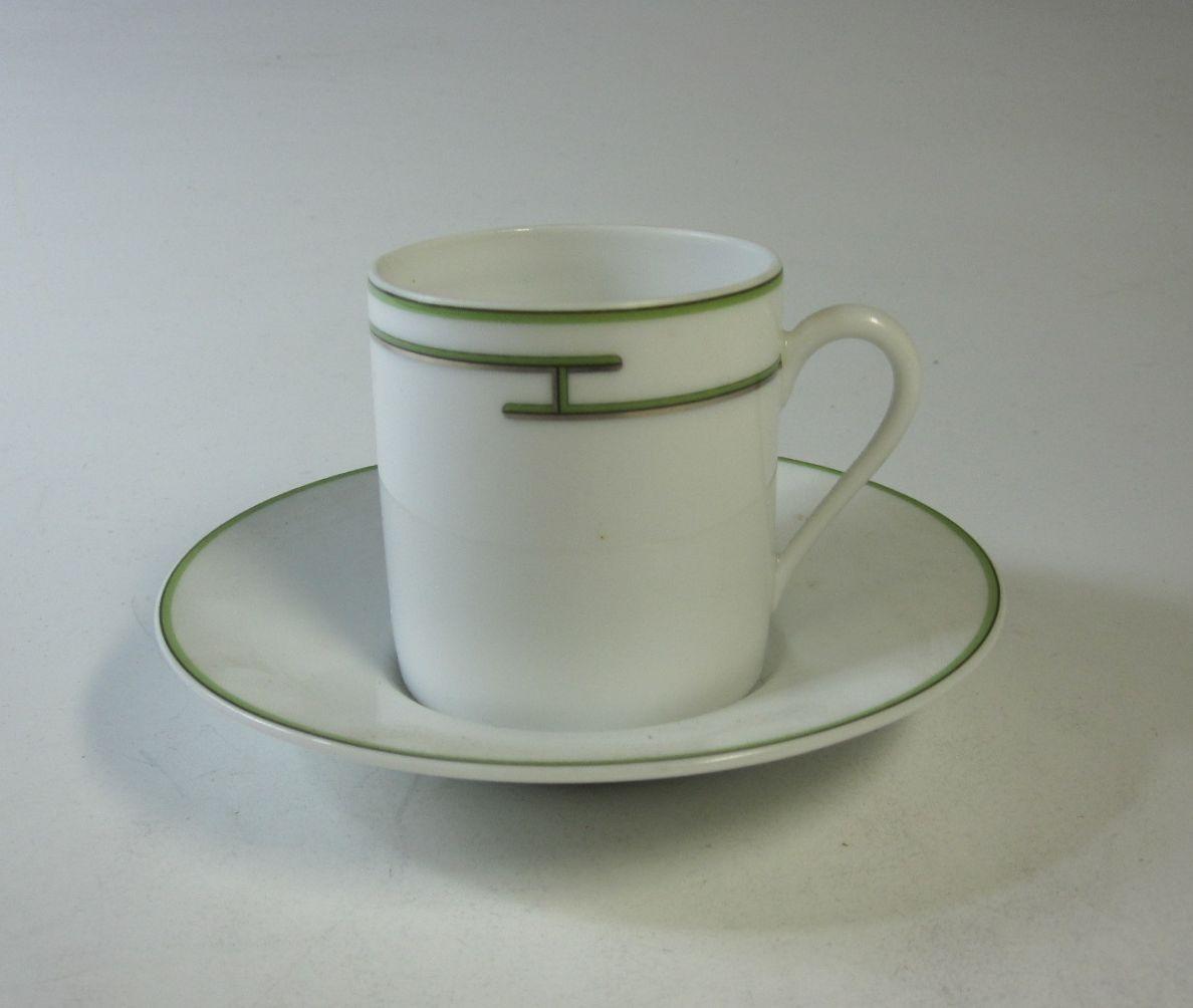 ヘレンド Herend リズム コーヒーカップ&ソーサー グリーン