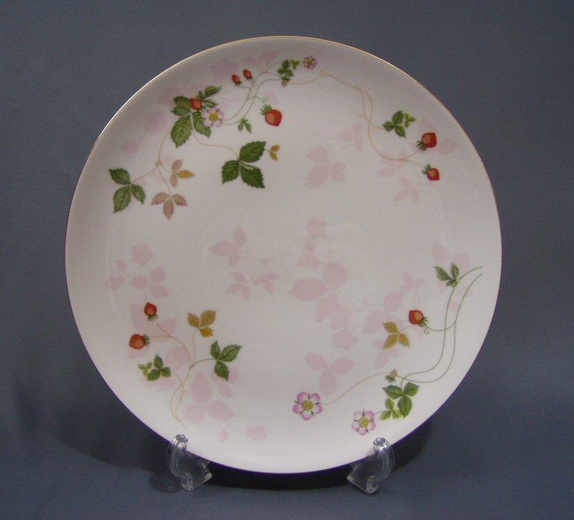 ウェッジウッド  ワイルドストロベリー  パステル27cmクーププレート(ピンク)