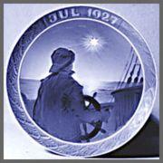 ロイヤルコペンハーゲン  イヤーズプレート  1927年 【お皿立て付き】