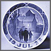 ロイヤルコペンハーゲン  イヤーズプレート  1928年 【お皿立て付き】