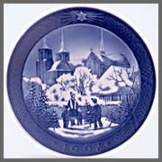 ロイヤルコペンハーゲン  イヤーズプレート  1997年 【お皿立て付き】