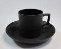 ウェッジウッド Wedgwood ブラックバサルト コーヒー カップ&ソーサー デミタス