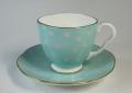ウェッジウッド Wedgwood ハーレークイーンコレクション  ポルカドット コーヒー カップ&ソーサー  ブルー
