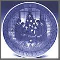 ロイヤルコペンハーゲン  イヤーズプレート  1983年 【お皿立て付き】