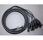 ATAS-1.5F(手回しインチネジ) Dsub25/XLR3F 変換アナログケーブル 1.5m