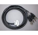 ATAS-1.5S(手回しインチネジ) Dsub25/TRS 変換アナログケーブル 1.5m