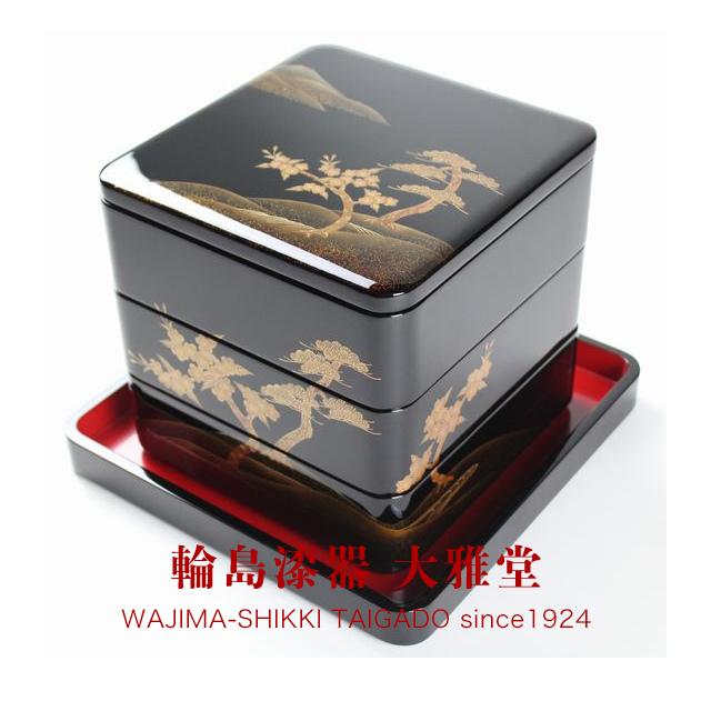 三段重箱(6.5寸)松に桜蒔絵