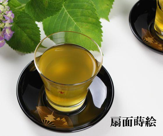 茶托 扇面蒔絵(限定2枚)