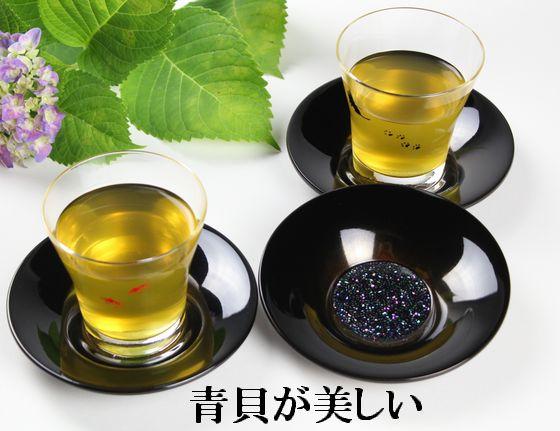 茶托 青貝金ぼかし(限定3枚)