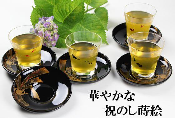 茶托 祝のし蒔絵(限定5枚)