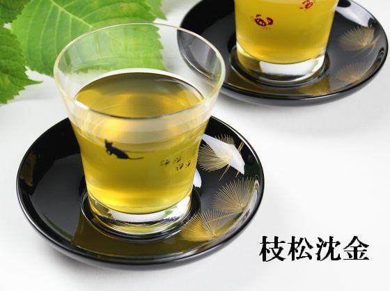 茶托 枝松沈金(限定4枚)