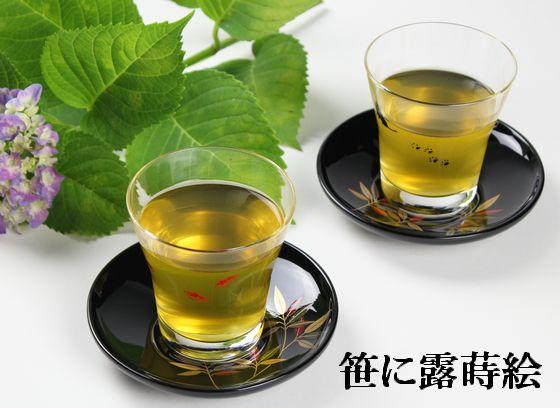 茶托 笹に露蒔絵(限定2枚)