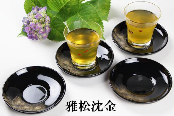 茶托 雅松沈金(限定3枚)