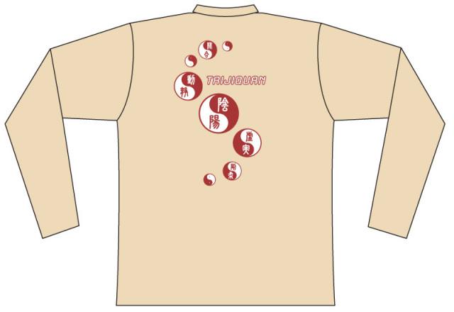 Taijilogo Tシャツ#101L (長袖) バックプリント