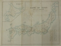 Carte du Japon sous la féodalité (仏)封建制度下の日本図