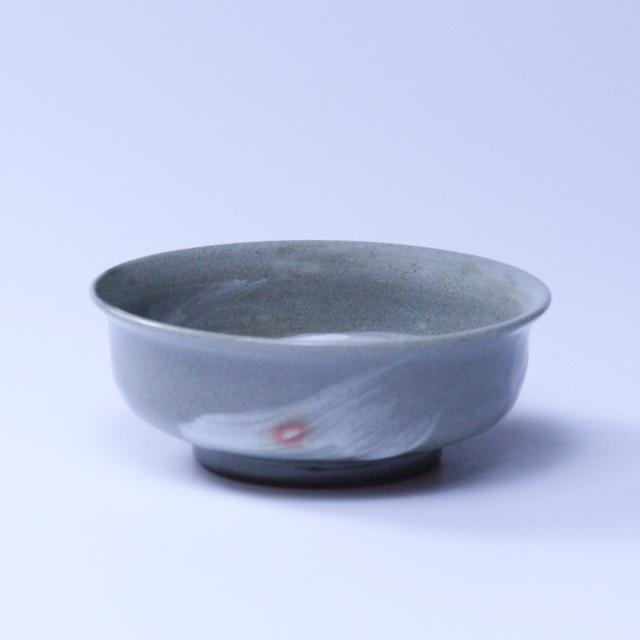 萩焼(伝統的工芸品)小鉢刷毛青丸