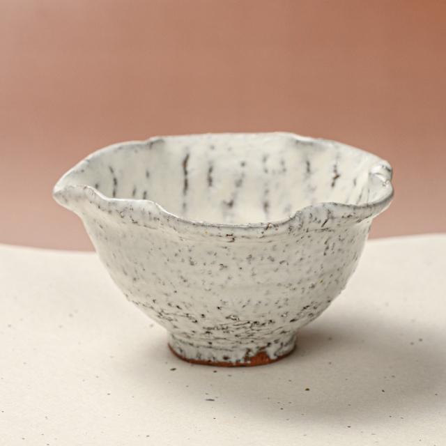 萩焼(伝統的工芸品)小鉢鬼白竹木の葉