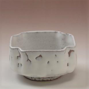 萩焼(伝統的工芸品)小鉢鬼白竹四方へこみ