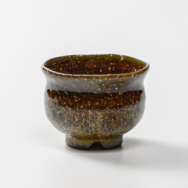 萩焼(伝統的工芸品)豆小鉢鉄釉丸