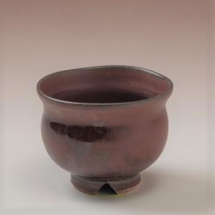 萩焼(伝統的工芸品)豆小鉢鉄赤釉丸