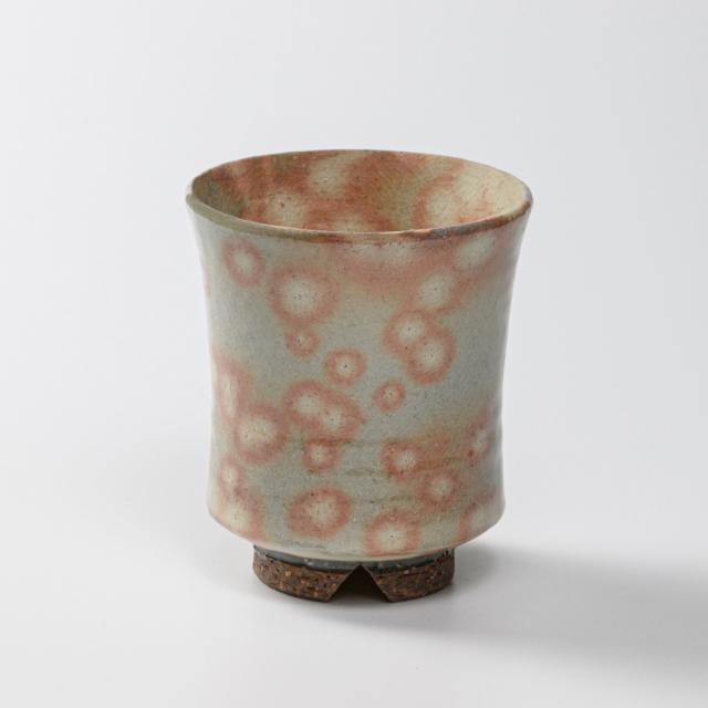 萩焼(伝統的工芸品)大湯呑御本手端反