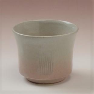 萩焼(伝統的工芸品)そばちょこ姫萩端反線彫