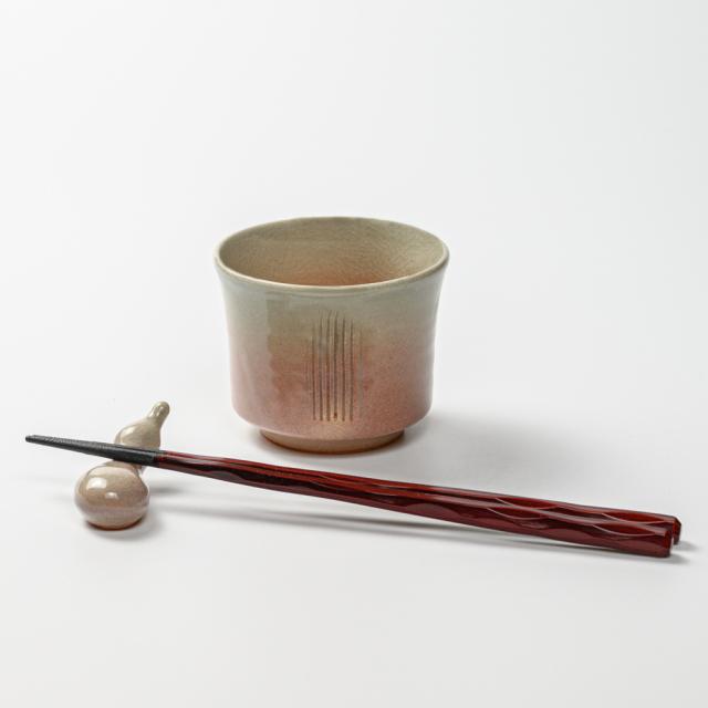 萩焼(伝統的工芸品)そばちょこ姫萩端反櫛目
